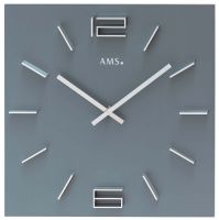 Designové nástěnné hodiny hranaté ams 9594