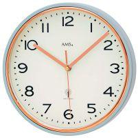 Nástěnné hodiny bateriové kulaté ams 5509