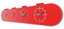 Designové hodiny 12-007 CalleaDesign Singapore 57cm (více barevných verzí) Barva šedomodrá tmavá-44 - RAL5014