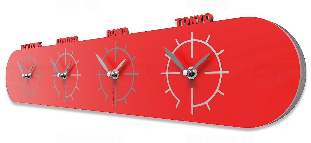Designové hodiny 12-007 CalleaDesign Singapore 57cm (více barevných verzí) Barva švestkově šedá - 34