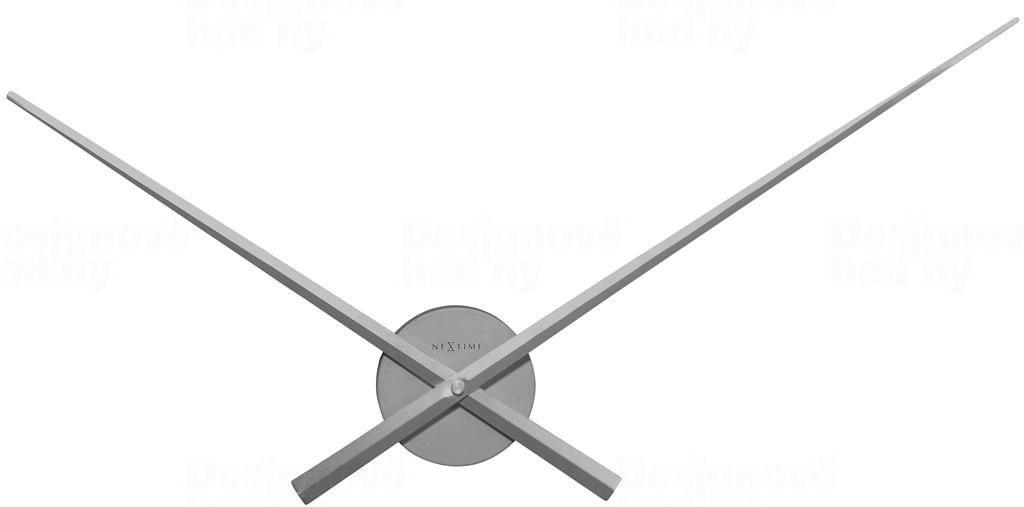 NeXtime Designové nástěnné hodiny 3118zi Nextime Hands stříbrné 70cm