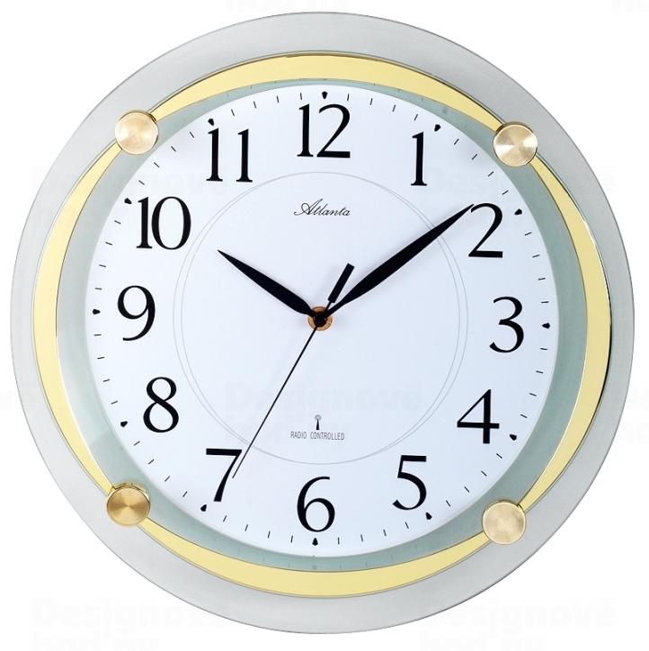 Atlanta Designové nástěnné hodiny AT4297-9 řízené signálem DCF