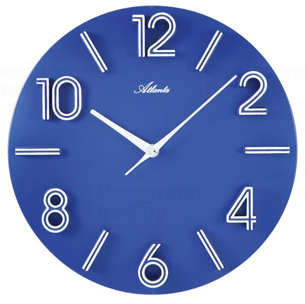 Modré plastové hodiny na stěnu Atlanta AT4397-5