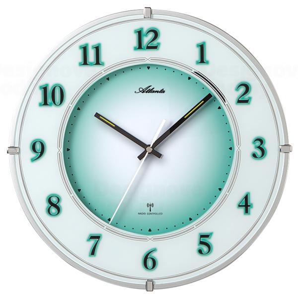 Atlanta Nástěnné hodiny AT4299 s nočním automatickým LED podsvětlením řízené signálem DCF