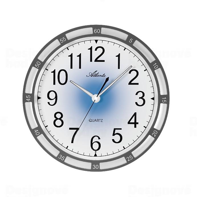 Atlanta Nástěnné hodiny AT4458-4 s automatickým nočním LED podsvětlením