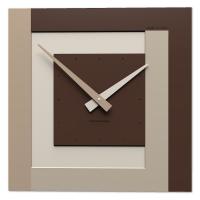 Designové hodiny 58-10-1 CalleaDesign CL40 40cm (více barevných verzí) Barva čokoládová-69 - RAL8017 Dýha šedý kořen - 84