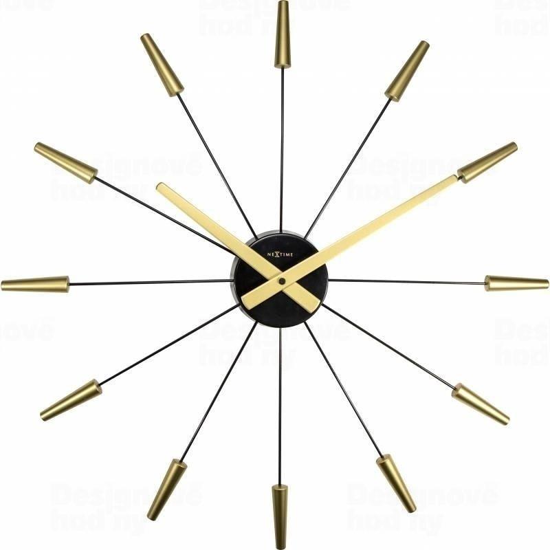 NeXtime Zlacené, paprskové designové hodiny Nextime Plug Inn 2610go