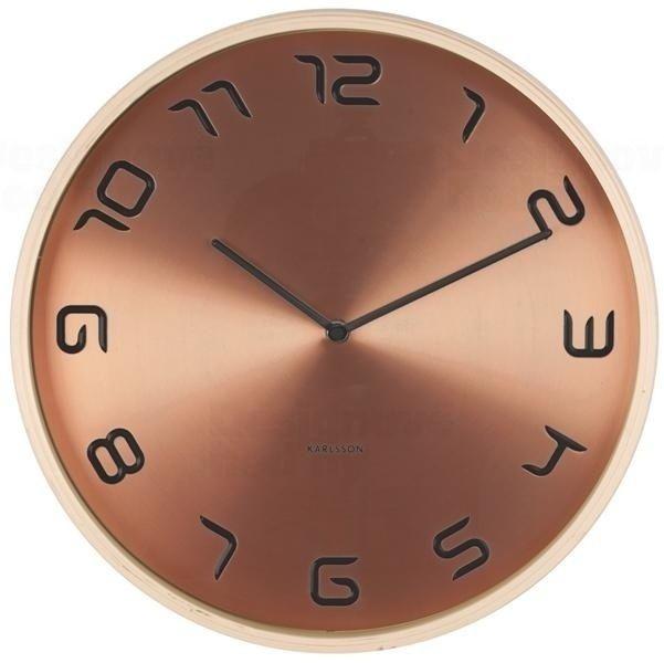 Nástěnné hodiny kovové 5611CO Karlsson
