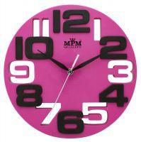 Pestrobarevné nástěnné hodiny s velkými číslicemi E01.3064