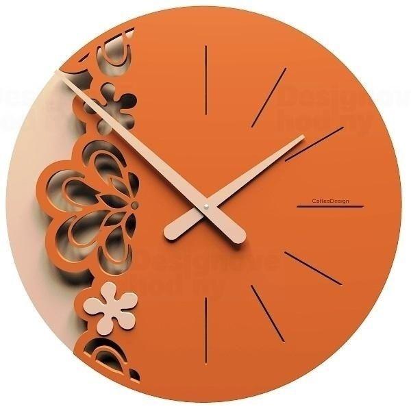 Designové hodiny 56-10-2 CalleaDesign Merletto Big 45cm (více barevných verzí) Barva béžová (tělová)-23