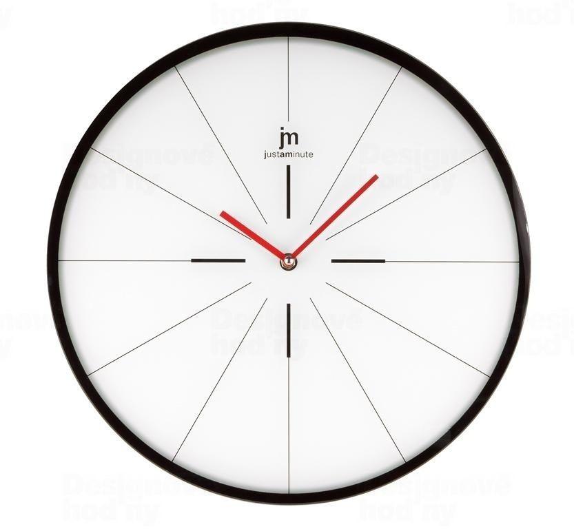 Lowell Italy Nástěnné hodiny skleněné Lowell 14874