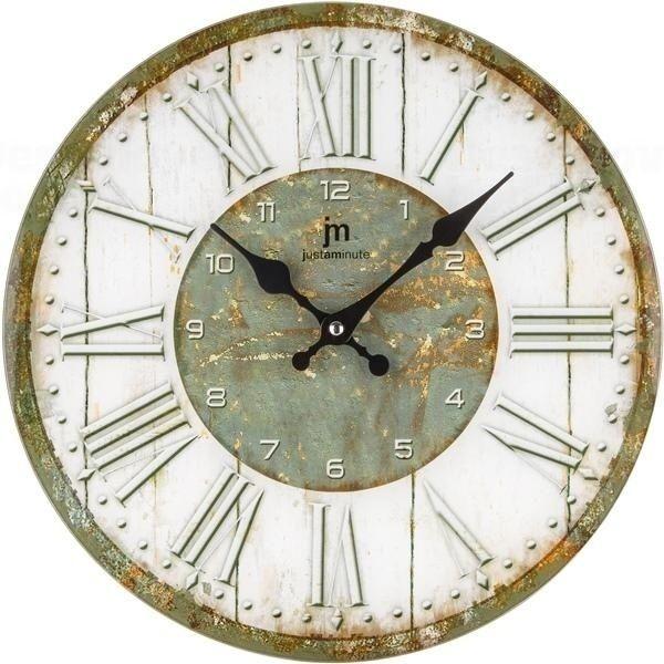 Lowell Italy Skleněné retro nástěnné hodiny s římskými číslicemi Lowell 14877