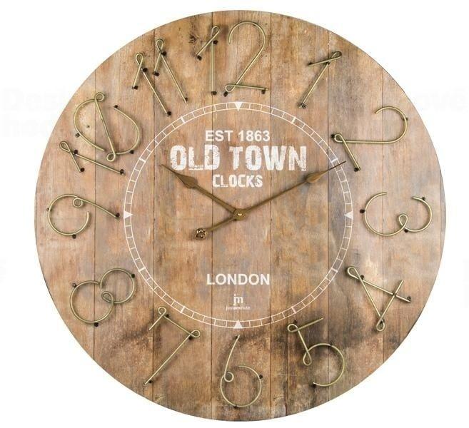 Nástěnné hodiny s retro motivem Old Time Lowell 21464