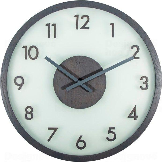 NeXtime Designové nástěnné hodiny 3205gs Nextime Frosted Wood 50cm