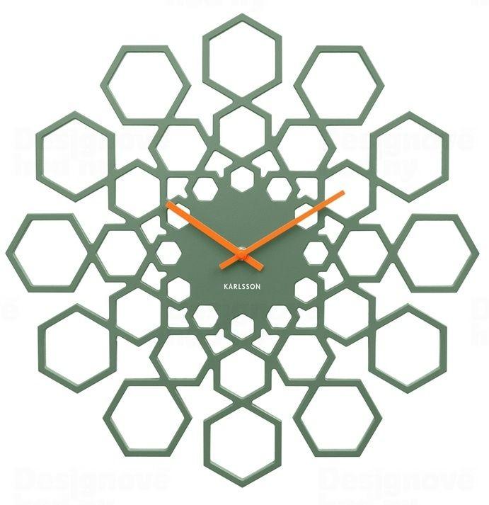 Designové nástěnné hodiny 5639GR Karlsson 48cm