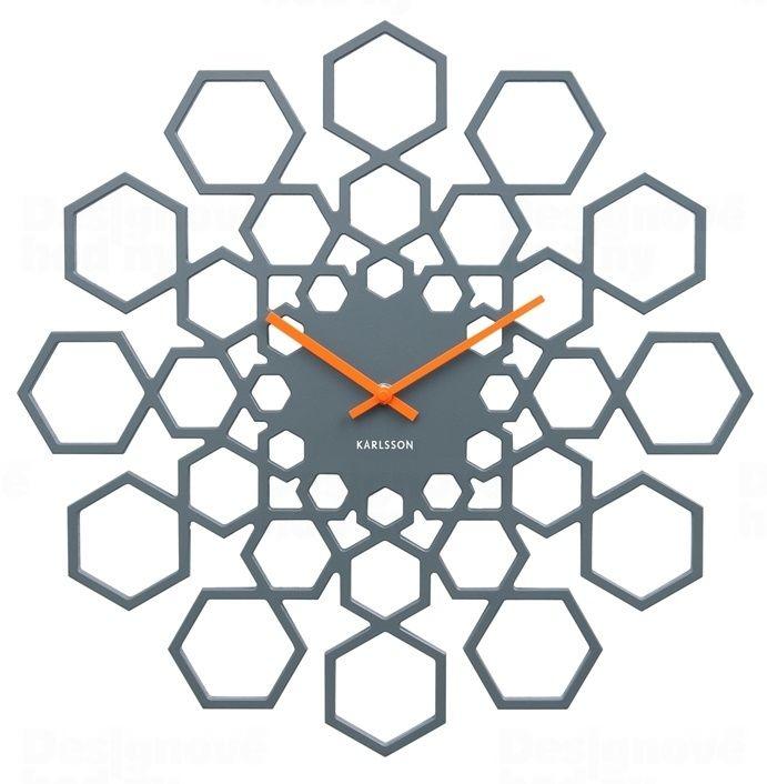 Designové nástěnné hodiny 5639GY Karlsson 48cm