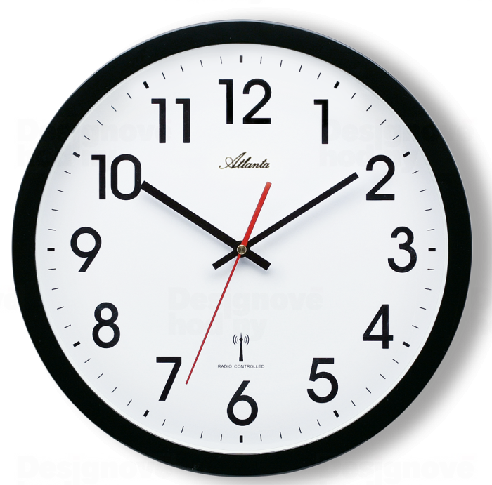 Nástěnné hodiny rádiem řízené Atlanta AT4219-7