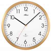 Designové nástěnné hodiny AT4382-9 zlaté řízené signálem DCF