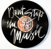 Designové nástěnné hodiny Discoclock 100 Donť stop Music 30cm