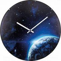 Designové nástěnné luminiscenční hodiny Nextime 3176 Globe 35cm