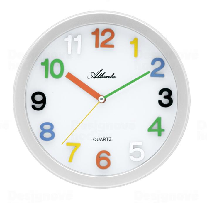 Atlanta dětské nástěnné hodiny barevné číslice hodiny na zeď Německo
