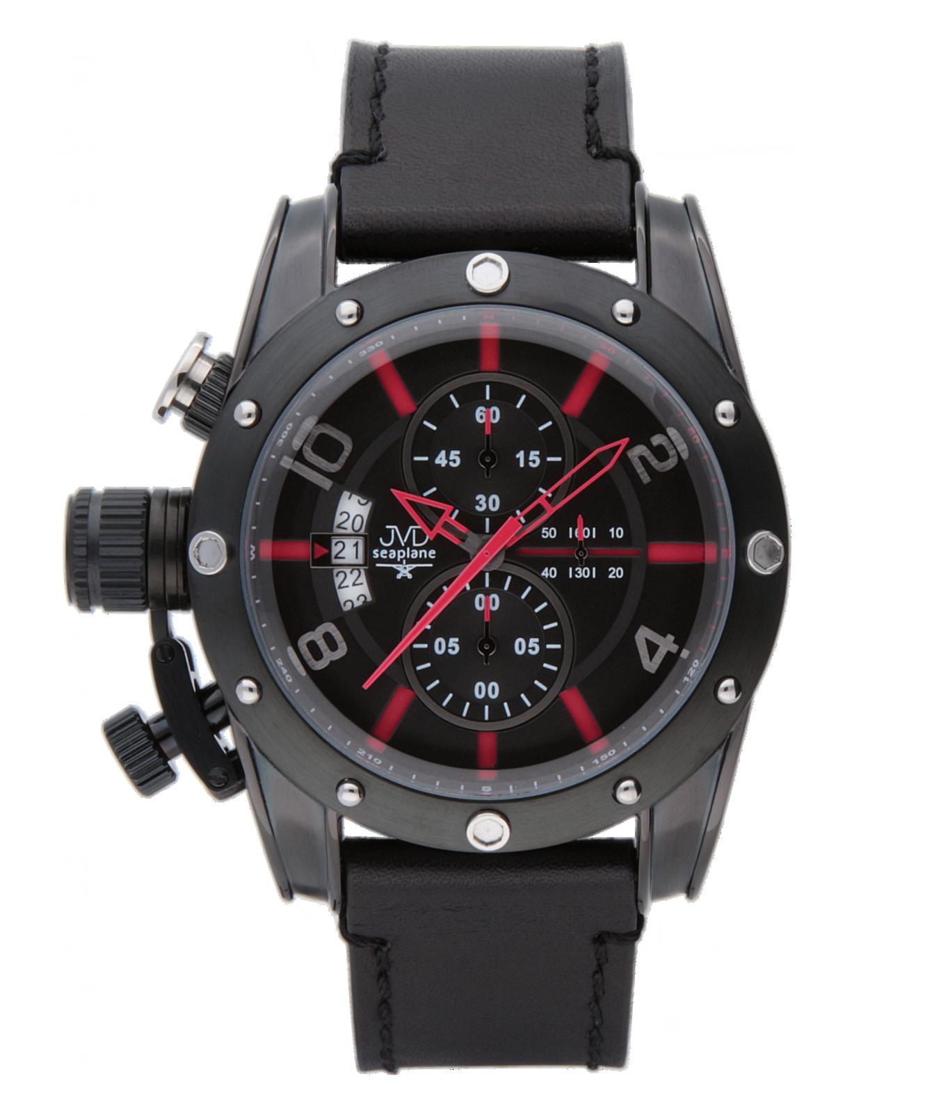 Pánské hodinky seaplane ultimate jvdw47.3 červená barva