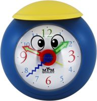 Hezký dětský budík tvar modrý míč se žlutou čepicí C01.3184