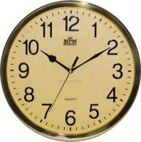 Nástěnné hodiny v jednoduchém zlatém a stříbrném designu E01.3169