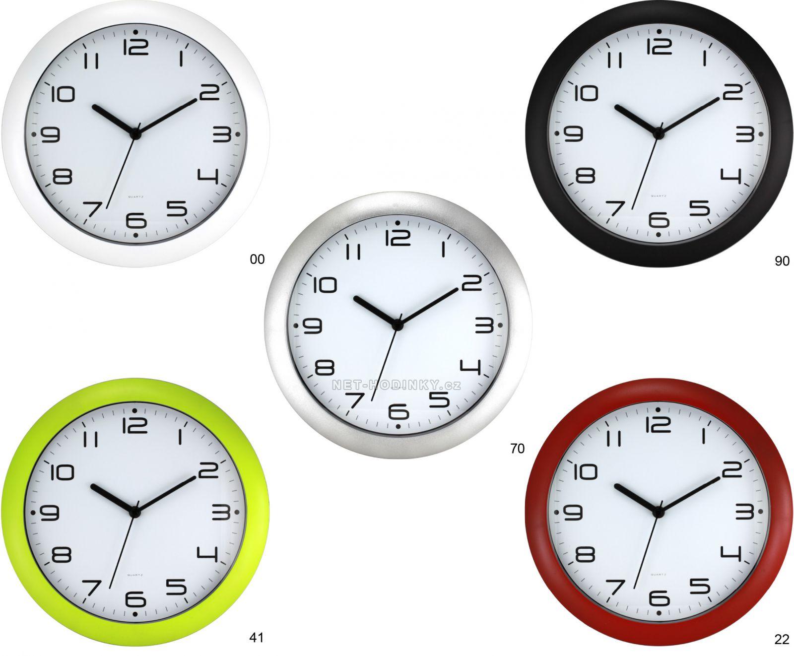 Nástěnné hodiny kulaté na stěnu 70 - stříbrná