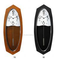 Netradiční dřevěné hodiny s kyvadlem E05.3455
