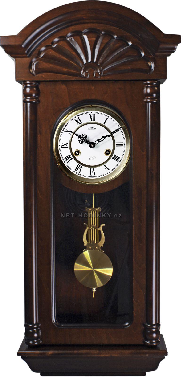 Mechanické kyvadlové hodiny PRIM 54 - tmavé dřevo