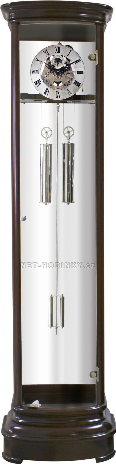 MPM Quality Mechanické podlahové hodiny PRIM E08P.3182.01010 54 - tmavé dřevo