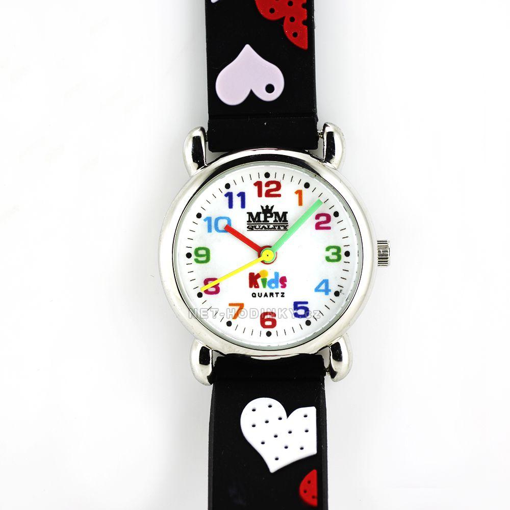 Dívčí hodinky se srdíčky, dětské hodinky, holčičí hodinky