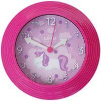 Nástěnné hodiny s dětským motivem zasazené do barevného rámu..01578