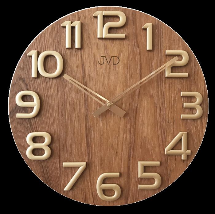 Nástěnné hodiny Nástěnné hodiny dřevěné JVD HT97.5 Nástěnné hodiny