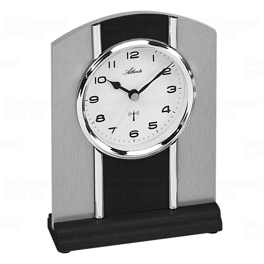 stolní hodiny, rádime řízený čas barva hodin černé dřevo Atlanta