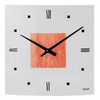 čtvercové hodiny oranžová