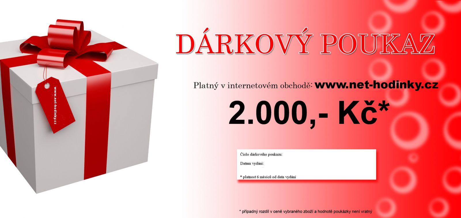 Dárkový poukaz 2000,- Kč s DOPRAVOU DÁRKU ZDARMA