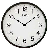 nástěnné velké hodiny kulaté černé ams 9495