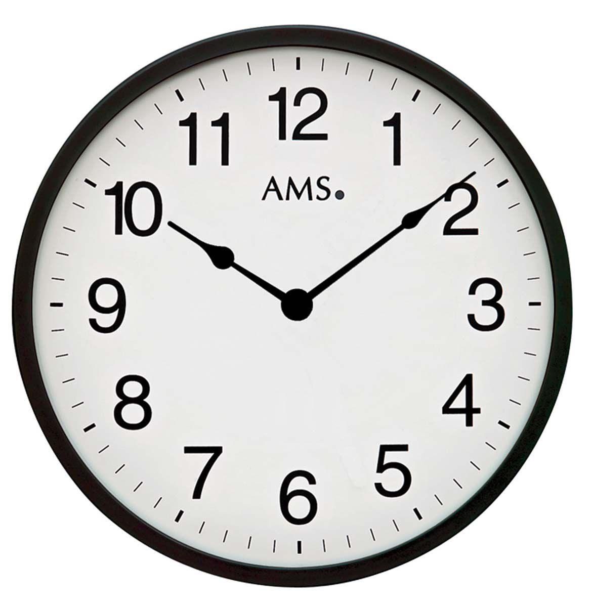 Nástěnné hodiny quartz AMS 9495 kulaté černé