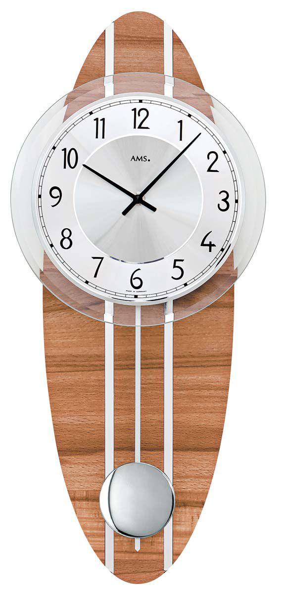 Nástěnné kyvadlové hodiny AMS 7419 quartz pendlovky