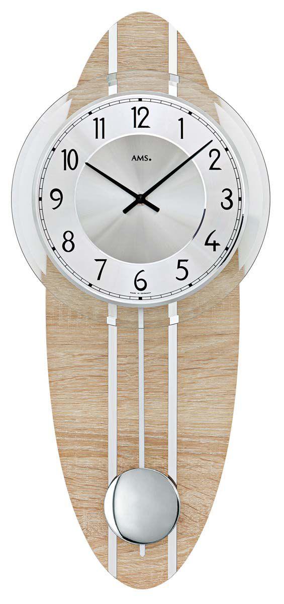 Kyvadlové nástěnné hodiny AMS 7420 quartz pendlovky