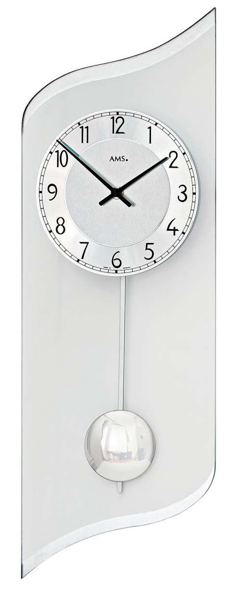 kyvadlové hodiny skleněné ams 7436
