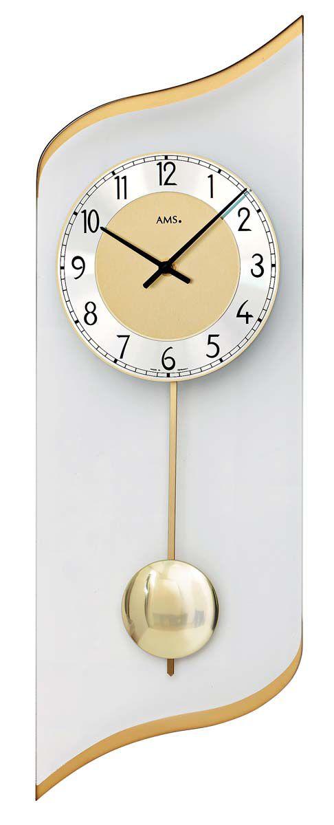 AMS Nástěnné hodiny kyvadlové na stěnu, nástěnné hodiny na zeď