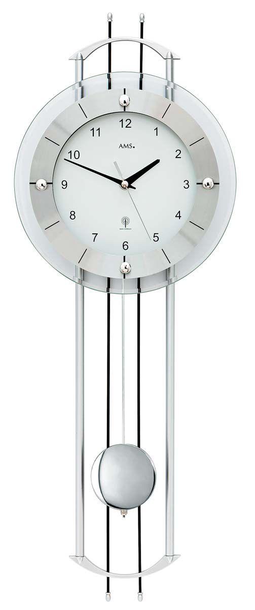 Rádiem řízené kyvadlové hodiny designové AMS 5248