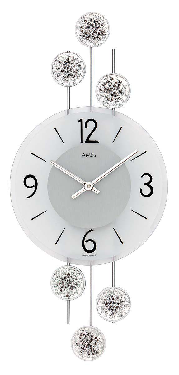 AMS Nástěnné hodiny moderní na stěnu, nástěnné hodiny na zeď