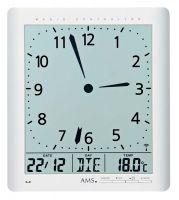 Rádiem řízené nástěnné hodiny AMS 5896