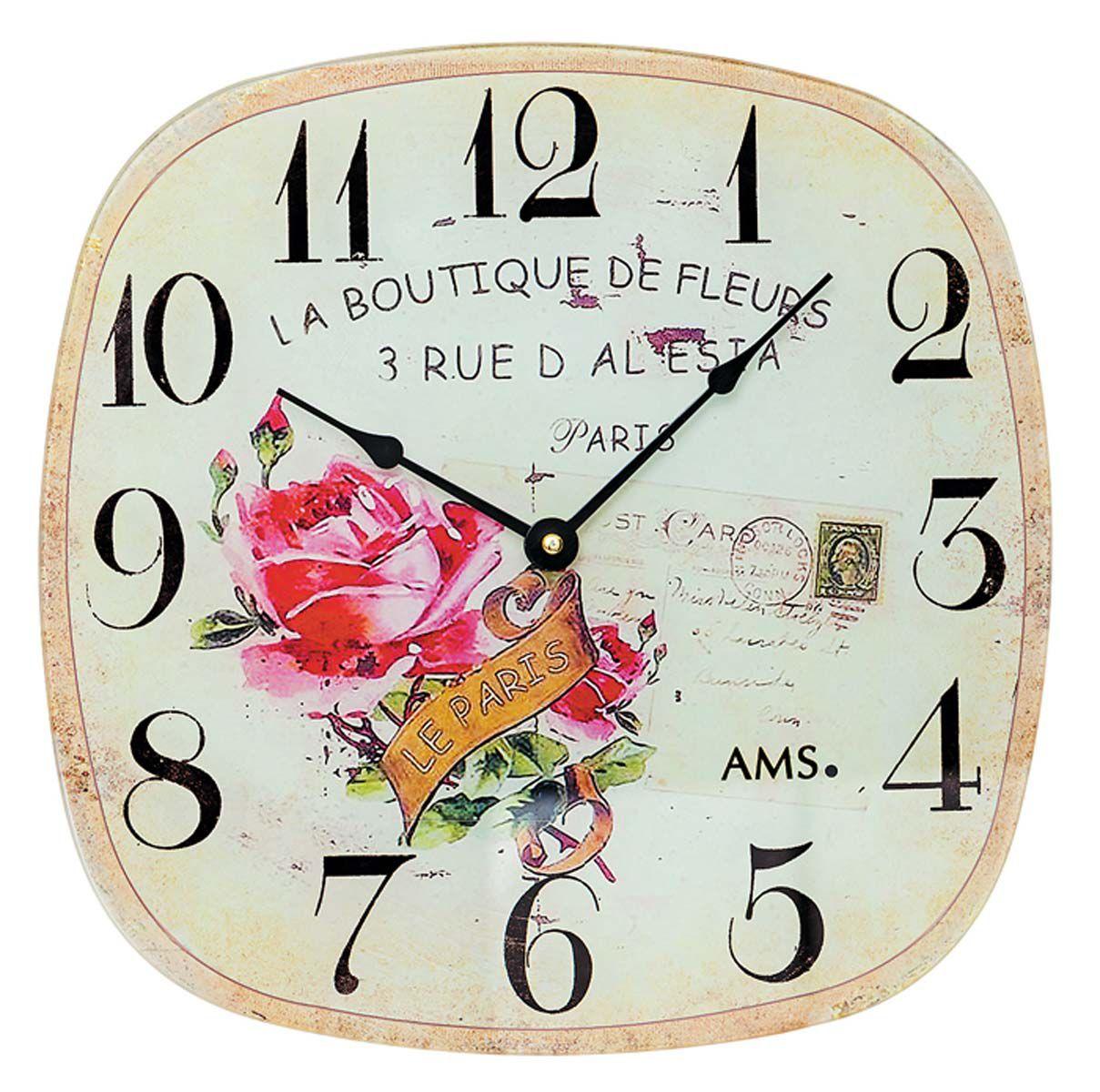 Nástěnné hodiny retro na stěnu AMS 9481
