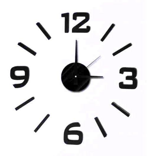 nástěnné nalepovací hodiny na zeď SKLADEM -