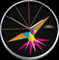 Kovové designové hodiny Prim